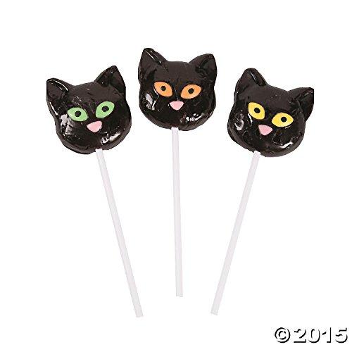 Black Cat Character Suckers -