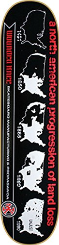 賛美歌失効最悪Wounded Knee Progression Of Land Loss Deck 8.0 Skateboard Decks by Wounded Knee