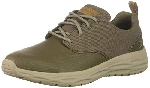 Skechers Men's HARSEN-Acton Oxford khk 12 Medium US