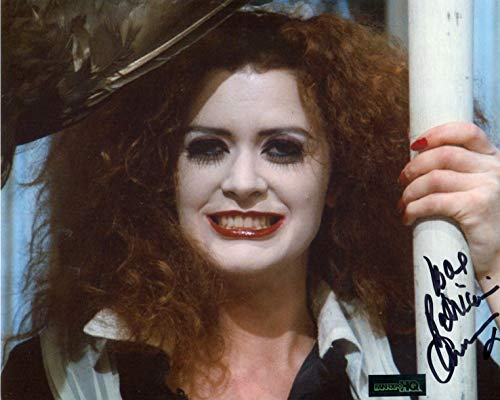Patricia Quinn Signed / Autographed 8x10 Glossy Photo as Magenta from The Rocky Horror Picture show. Includes FaneXpo HQ Certificate of Authenticity. Entertainment Autograph Original. Tim Curry, Frankfurter]()