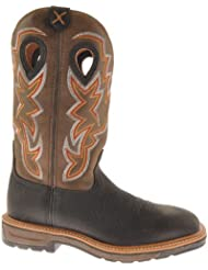 Twisted X Mens Lite Pull-On Work Boot Square Toe - Mlcw005