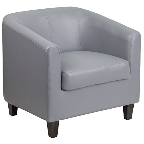 flash furniture gray leather lounge chair