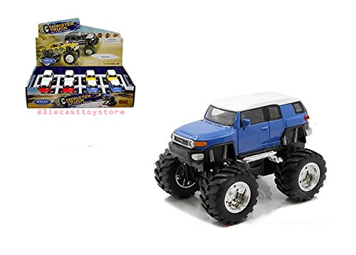 (NEW DIECAST TOYS CAR WELLY DISPLAY - MONSTER TRUCK - TOYOTA FJ CRUISER 4.75