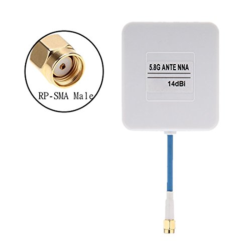 Crazepony FPV Panel Antenna 5.8G 14dBi High Gain RX RP-SMA Male for Multicopter DJI Phantom etc