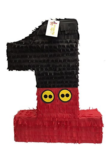 Large Black & Red Number One Pinata 23