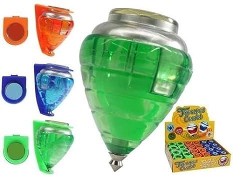 Virtuemart Peonza trompo de plastico con Punta Metalica: Amazon.es: Juguetes y juegos