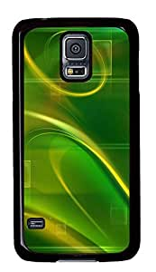 Samsung Galaxy S5 Cases & Covers - Green Abstract N003 PC Custom Soft Case Cover Protector for Samsung Galaxy S5 - Black