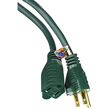 Coleman Cable 02353-05 80-Foot 16/3 Vinyl Landscape Outdoor Extension Cord, Green