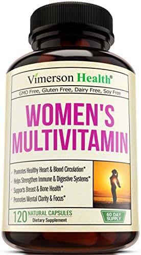 Women's Daily Multivitamin Multimineral Supplement. Vitamins and Minerals. Chromium, Magnesium, Biotin, Zinc, Calcium, Green Tea. Antioxidant Properties for Women. Heart, Breast Health. 120 Capsules