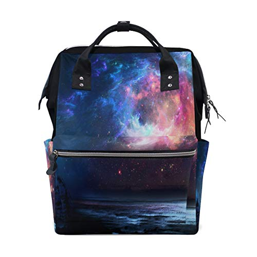 HangWang Diaper Bags Beaches Fantasy Space Fashion Mummy Backpack Multi Functions Large Capacity Nappy Bag Nursing Bag for Baby Care for Traveling
