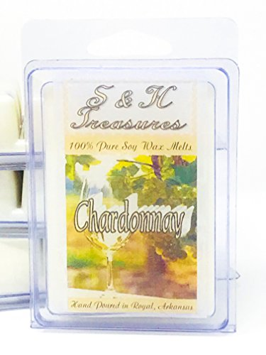 Pure Chardonnay (Chardonnay - Pure Soy Wax Melts - Beverage Scents - 1 pack (6 cubes))