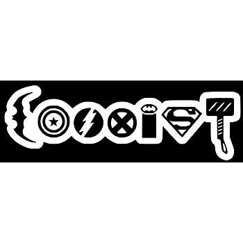 Amazon Com Coexist Marvel Logo Vinyl Car Decal Arts