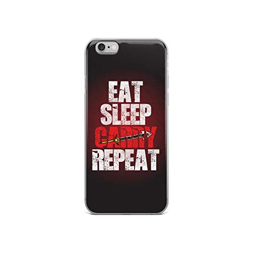 iPhone 6/6s Case Anti-Scratch Gamer Video Game Transparent Cases Cover Eat Sleep Carry Repeat Gaming Computer Crystal Clear