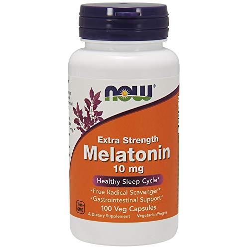 NOW® Melatonin, 10 mg, 100 Veg Caps