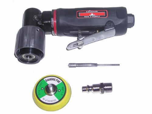 Canadian Tool and Supply 2-Inch Dual-Action Air Angle Sander Autobody Tool with Random Orbit