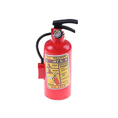 Mikilon Novelty Gag Game 2pcs in Pack Spray Mini Fire Extinguisher Shape Water Gun Squirter, Funny Bath Beach Drift Water Toy, Every Kids can be a Fireman to Fire The High Heat of Summer (Red): Toys & Games