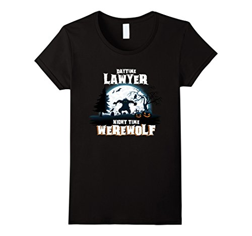 Jack Black School Of Rock Costume (Womens Lawyer Werewolf At Night Halloween Costume Shirt Medium Black)