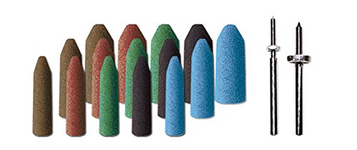Dedeco 0014 All In One Rubberized Abrasive Point Assortment Kit  Pack Of 34