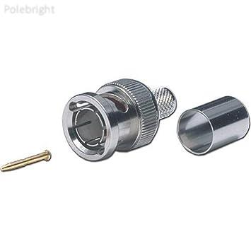 bp-3 C7559 75 Ohm macho 3 piezas Conector BNC para RG-59 cable