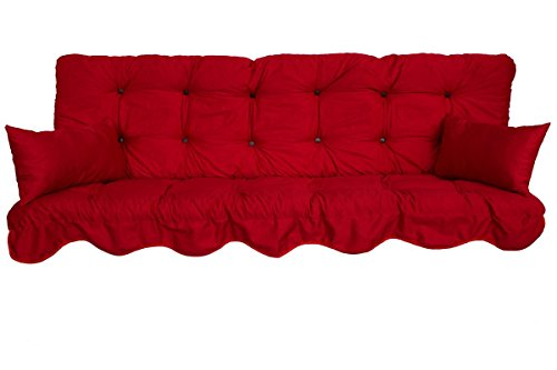 Polsterauflage Hollywoodschaukel 180x50 Modell 590 Farbe: rot