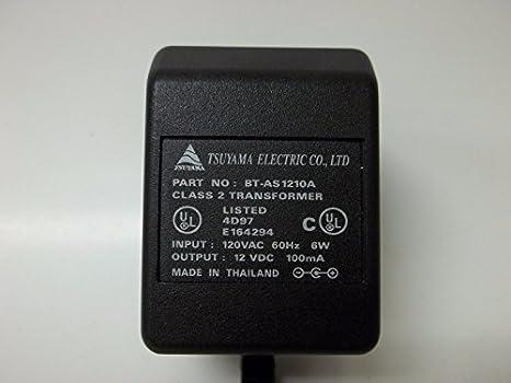 12VDC 100MA .1A POWER SUPPLY TRANSFORMER BT-AS1210A UL 2.5MM WALL FS 10 PCS