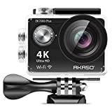 AKASO EK7000 Plus 4K 16MP WIFI Action Camera Adjustable View Angle 30M Waterproof Camera Remote Control Sports Camera with Helmet Accessories Kit and Filters