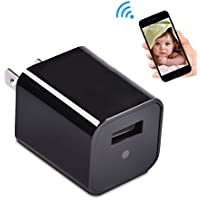 HD WiFi Hidden Spy Camera USB Wall Charger Adapter Security Camera with Motion Detection Nanny Cam Support IOS Android Remote View Live Video Internal 8GB Memory Mini Camera Loop Video Recorder