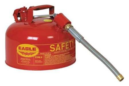 2 Gallon Type Eagle (Eagle U2-26-SX5 Type II Safety Can with Flex Spout, 2 gal, Galvanized Steel)