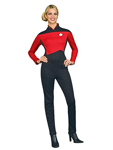 Rubie's Secret Wishes Star Trek The Next Generation Woman's Deluxe Red Jumpsuit, Adult Small