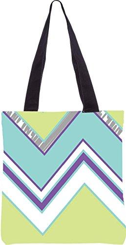 Snoogg Zickzack-Design 2368 13.5 x 15 Zoll-Shopping-Dienstprogramm-Einkaufstasche aus Polyester-Segeltuch gemacht