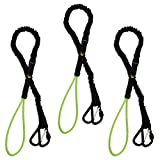 KwikSafety (Charlotte, NC) Octopus (3 PACK) Heavy Duty Tool Lanyard with Carabineers (Twist Lock & Clip) Coiled Retractable Bungee Chord Detachable Interchangeable Buckle Straps Adjustable Clip Locks
