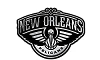 "NBA Pelicans New Orleans Window Graphic Sticker, 9"" x 5"" x 0.2"", Team Logo"
