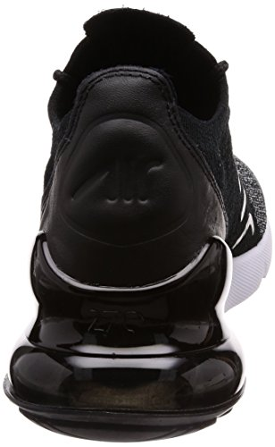 Nike Air Max 270 Flyknit Mens Running Trainers AO1023 Sneakers Shoes (UK 8 US 9 EU 42.5, Black Black White 001)