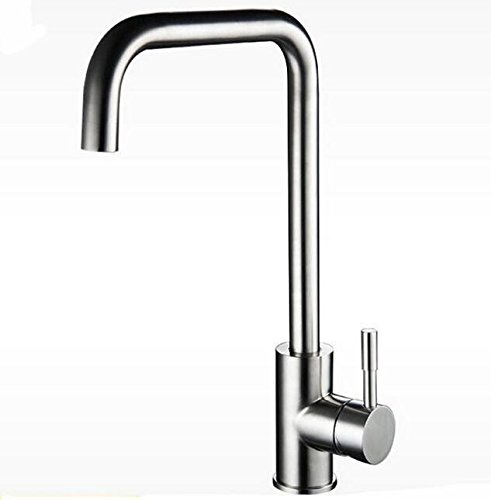 Makej Nickel Brushed 304 Kitchen Faucet Sus 304 Sink Kitchen Mixer Healthy Kitchen Faucet Lead Free Tap Kitchen Mixer Lead Free Tap