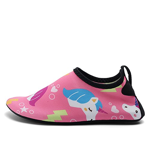 Price comparison product image OUYAJI Kids Boys Girls Cute Breathable Quick Dry Shoe Toddler Beach Play Park Garden Children Pool Home Slippers Pink 30/31