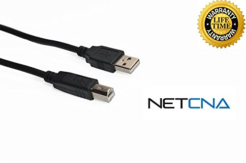Netcna® 1 Feet USB Cable for Epson Artisan 835 All-in-One - 2.0 Printer Cable