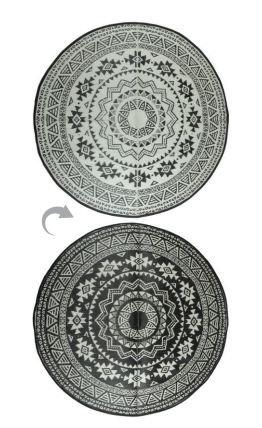 Esschert Design OC18 Garden Carpet, Black/White by Esschert Design