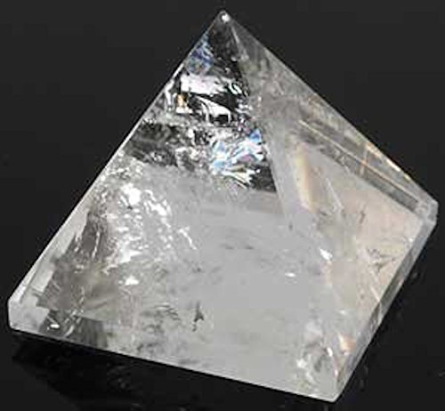 "Pyramid Crystal Quartz Pyramid Size Approx. 1.5""-2""- Healing GemStone Quartz Crystal - Blessed & Energized Chakra crystal Balancer Reiki Healing Pyramid - USA Seller"