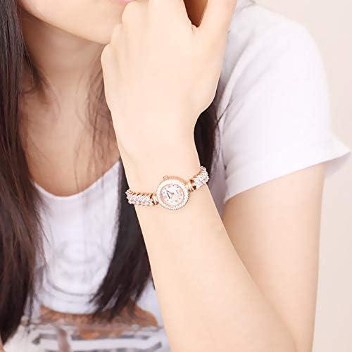 SJXIN Montres Bracelet Montre Femme Petit Cadran Tout Acier Montre a Quartz Montre Femme 1