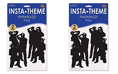 2 Pack of 2 Beistle Paparazzi Props Party Accessory