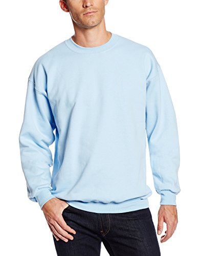 Hanes Men's Ultimate Heavyweight Fleece Sweatshirt, Light Blue, X-Large