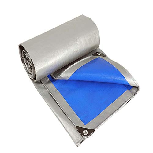 Light Ltm - LTM Lightweight Tarpaulin, High Density Woven Polyethylene and Double Laminated - 2x2m=4 Square, 160g/m², Silver- 100% Waterproof and UV Protected (Size : 2m10)
