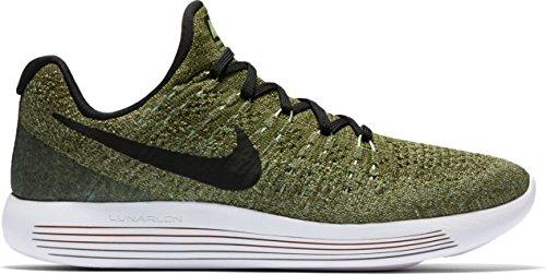 buy popular 8e636 8cf3d Galleon - Nike Womens Lunarepic Low Flyknit 2 Palm Green Black Vapor Green Running  Shoe 10 Women US