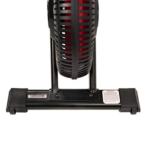 EFITMENT Aero Air Fan Rowing Machine Rower w/LCD Monitor, 245 LB Weight Capacity, 51 Inch Rail Length - RW036