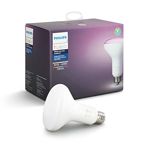 Philips Hue White and Color Ambiance BR30 Wi-Fi Smart LED Floodlight Bulb White 468942