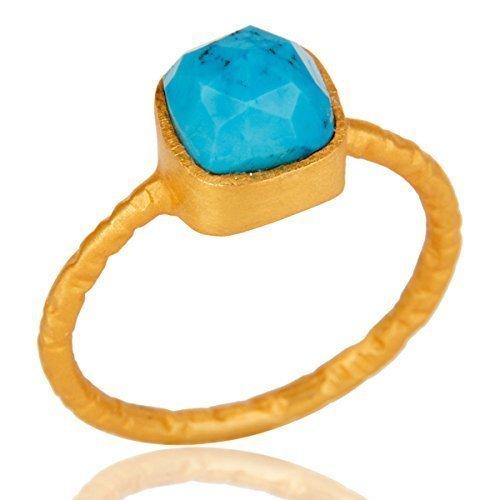 Turquoise Ring, Gemstone Silver Ring, Silver Ring for Girls, Handmade Ring