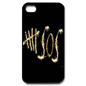 James-Bagg Phone case 5SOS - 5 Second of Summer Protective Case For Iphone 4 4S case cover Style-1