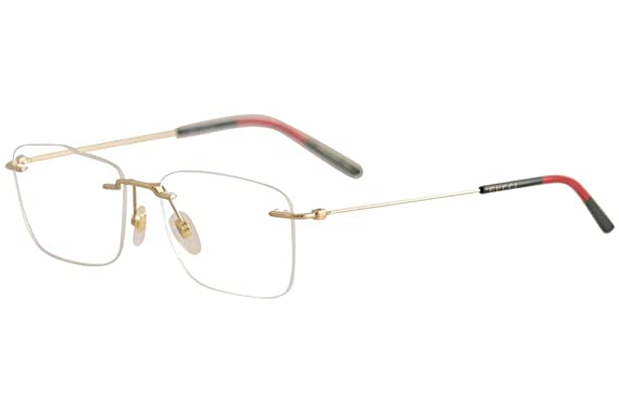a91de1eb0c4 Image Unavailable. Image not available for. Color  Gucci GG 0399O 002 Light Gold  Metal Rimless Eyeglasses 56mm