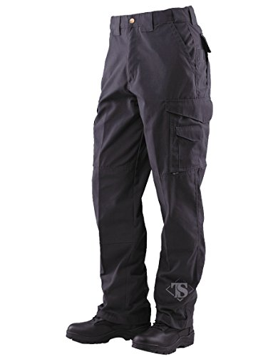 Mens Tactical Pants 65/35 Polyester/cotton Rip-stop Black (Ripstop Series)