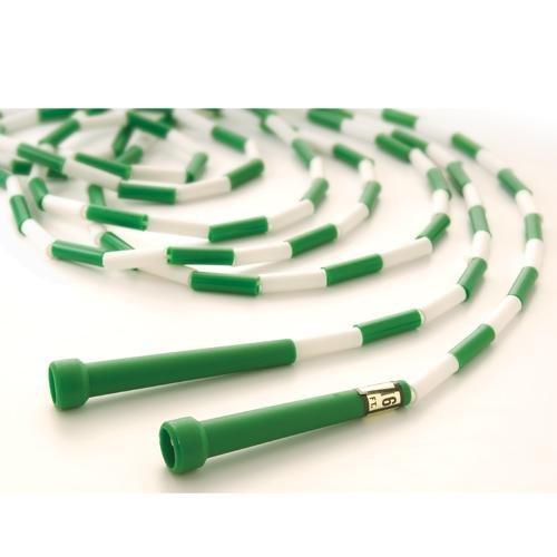 US Games Segmented Skip Rope, 16-Feet, Green/White